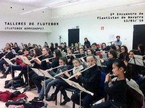 Taller de flauta beatbox Encuentro flautas Navarra Flutebox.es