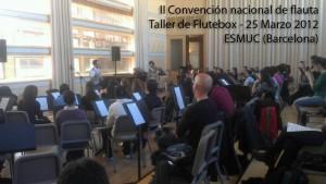 Taller de flauta beatbox Convencion nacional de flauta ESMUC Oscar Vazquez Flutebox.es