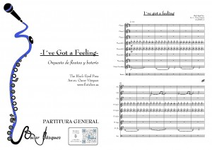 Black eyed partitura flauta orquesta