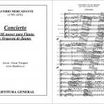 Canciones de flauta difíciles Concerto Mercadante 1