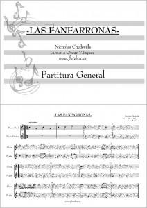 Las Fanfarronas Canciones de Flauta para Iniciación