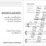 Canciones de Flauta para Iniciación Canciones flauta principiantes Rondo Cabezon