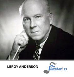leroy-Anderson-el reloj sincopado, syncopated clock-Canciones para flauta-Flute-Flauta-Beatbox