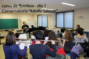 Curso de Flutebox - Conservatorio Madrid 01