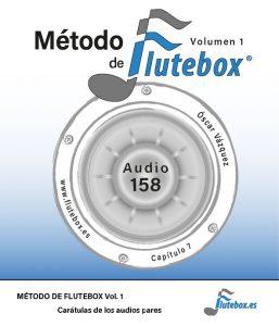 Características del Método de Flutebox Vol.1 Carátulas de los audios pares